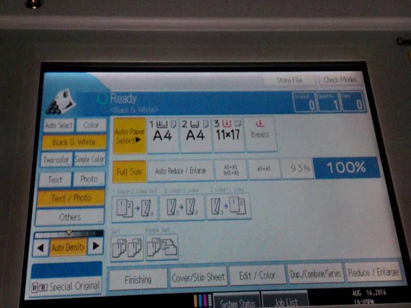 Chế độ Scan trên máy photocopy Ricoh