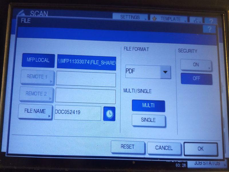 Chế độ Scan trên máy photocopy Toshiba