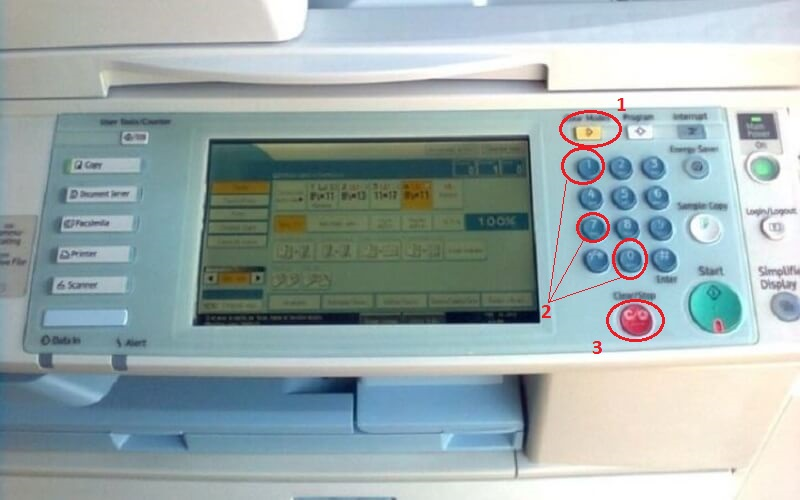 Bàn phím máy photocopy Ricoh