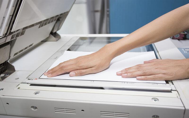 Cách đặt tài liệu photocopy