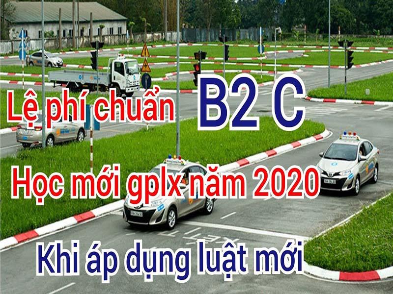 Lệ phí học lái xe hạng C năm 2020