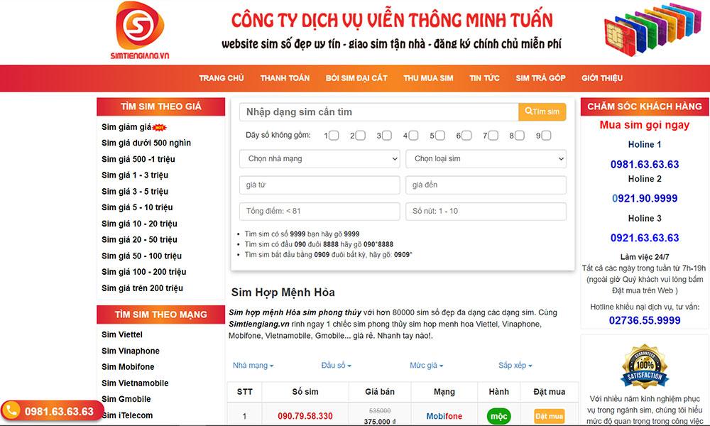Simtiengiang.vn - Nơi cung cấp sim thần tài đầy may mắn cho chủ thuê bao